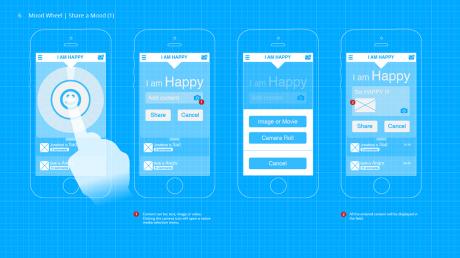 Share a Mood Screen UI