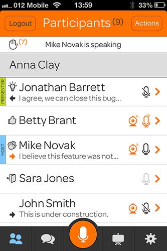 Participants Screen