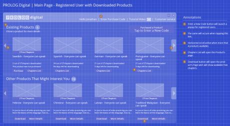 Homepage - High Fidelity UI