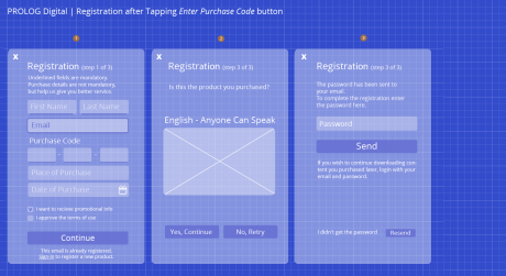 Registration - High Fidelity UI